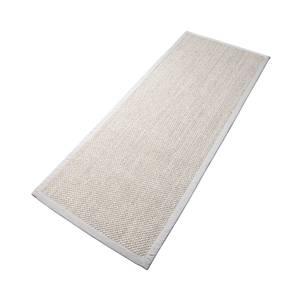 Bilde av Sisal teppe (80x300 - Sand/beige kant)