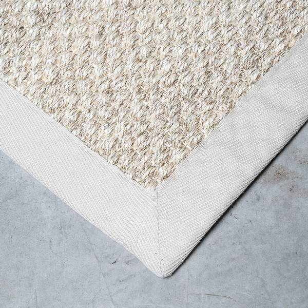 Sisal teppe (160x230 - Sand/beige kant)