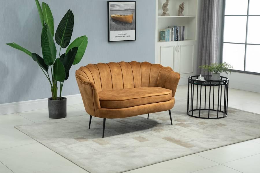 Lotus 2-seter sofa (Adore gull velour)