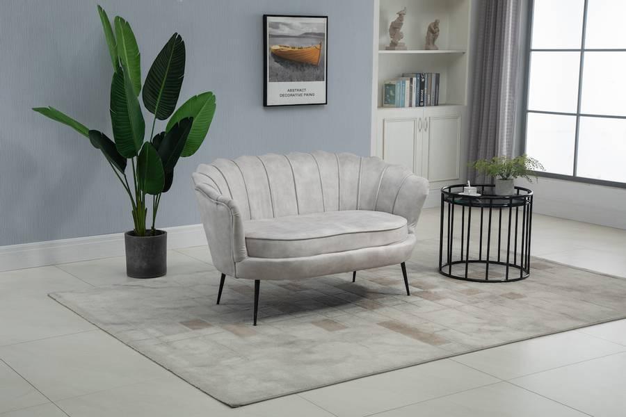 Lotus 2-seter sofa (Adore beige velour)