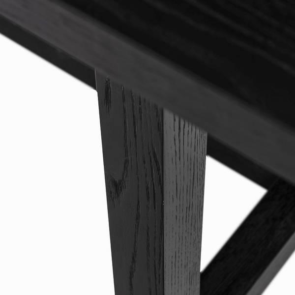 Noir spisebord (sort 200x100)